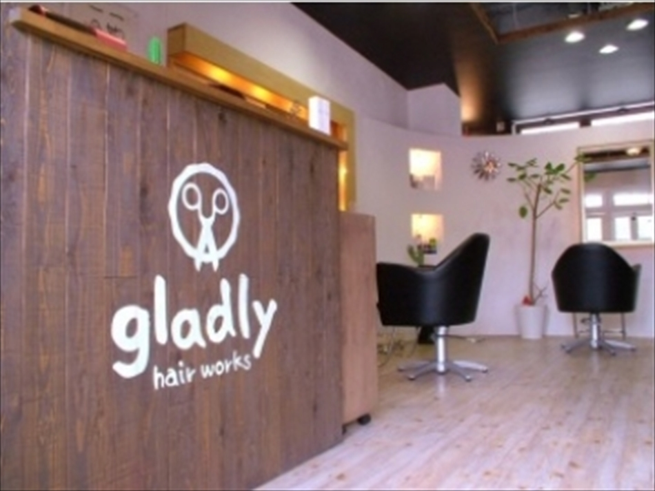 gladly hair works【グラッドリー・ヘアー・ワークス】